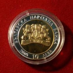 Moneta > 10lewów, 2005 - Bułgaria  (Skarby Bułgarii - Trakowie, złota maska) - obverse