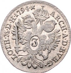 Moneta > 3kreuzer, 1792-1799 - Austria  - reverse