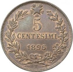 Moneta > 5čentezimai, 1895-1896 - Italija  - reverse