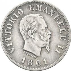 Moneta > 50čentezimų, 1861-1862 - Italija  - obverse