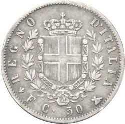 Moneta > 50čentezimų, 1861-1862 - Italija  - reverse