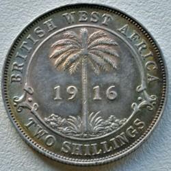 Moneda > 2shillings, 1913-1920 - Àfrica Occidental Britànica  - reverse