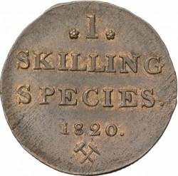 Moneta > 1skilling, 1819-1834 - Norwegia  - reverse