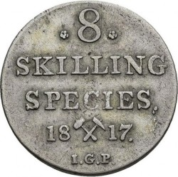 Moneda > 8skilling, 1817 - Noruega  - reverse