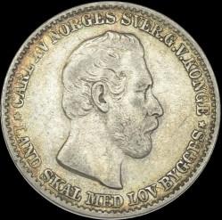 Moneda > 12skilling, 1865 - Noruega  - obverse