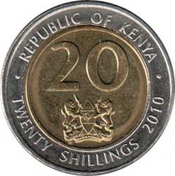 Moneda > 20chelines, 2010 - Kenia  - reverse