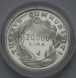 Монета > 20000лири, 1990 - Турция  (1990 FIFA World Cup) - obverse