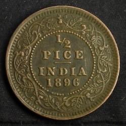 Кованица > ½пицеа, 1885-1901 - Индија - Британија  - reverse