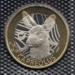 Moneta > 10franków, 2019 - Szwajcaria  (Szwajcarska fauna - Sarna) - reverse