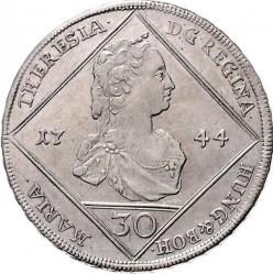 سکه > 30کرویزر, 1744-1745 - اتریش   (Coat of Arms of Styria in Centre) - obverse