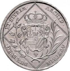 سکه > 30کرویزر, 1744-1745 - اتریش   (Coat of Arms of Styria in Centre) - reverse
