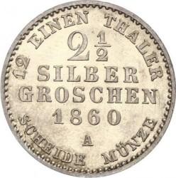 Moneda > 2½silbergroschen, 1860 - Lippe  - reverse