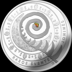 Moneda > 5 euros, 2018 - Lituania  (Traditional Lithuanian Celebrations - Joninės (Rasos)) - obverse