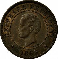 Moneda > 5centimes, 1863 - Haití  - obverse