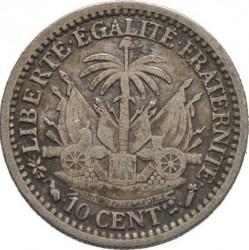 Moneda > 10centimes, 1881-1894 - Haití  - reverse