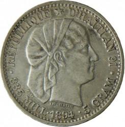 Moneta > 20centesimi, 1881-1895 - Haiti  - obverse