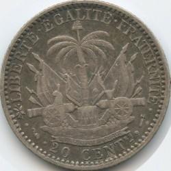 Moneta > 20centesimi, 1881-1895 - Haiti  - reverse