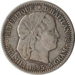 Coin > 20centimes, 1881-1895 - Haiti  - obverse