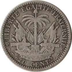 Coin > 20centimes, 1881-1895 - Haiti  - reverse
