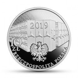 Moneta > 10 zlotų, 2019 - Lenkija  (100th Anniversary - The Signing of the State Archives Decree) - obverse