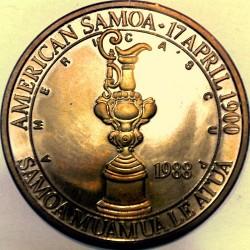 Moneta > 1dollaro, 1988 - Samoa Americane  (America's Cup) - obverse