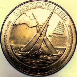Moneta > 1dollaro, 1988 - Samoa Americane  (America's Cup) - reverse