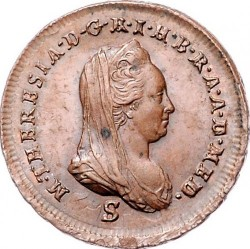 Moneta > 1soldas, 1777-1779 - Milanas  - obverse