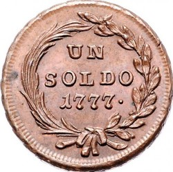 Moneta > 1soldas, 1777-1779 - Milanas  - reverse