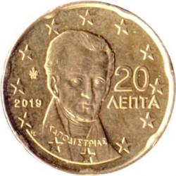 Minca > 20eurocentov, 2019 - Grécko  - obverse