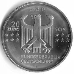 Coin > 20euro, 2019 - Germany  (100th Anniversary - Bauhaus) - obverse
