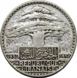 Кованица > 50пиастра, 1929-1936 - Либан  - obverse