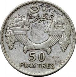 Кованица > 50пиастра, 1929-1936 - Либан  - reverse