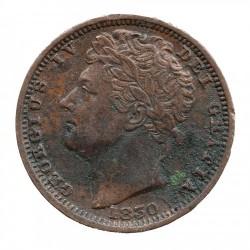 Moneta > ½farthinga, 1828-1830 - Wielka Brytania  - obverse