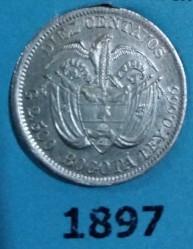 Moneda > 10centavos, 1897 - Colòmbia  - reverse