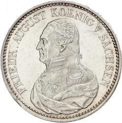 Moneta > 1tallero, 1824-1827 - Sassonia  (Solo testo di denominazione sul rovescio) - obverse
