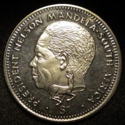 Minca > 1dolár, 1994 - Libéria  (Nelson Mandela) - obverse