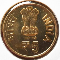 Monedă > 5rupii, 2018 - India  (125th Anniversary - Birth of Prasanta Chandra Mahalanobis) - obverse