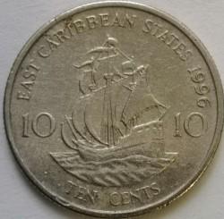 سکه > 10سنت, 1996 - کاراییب شرقی  - reverse