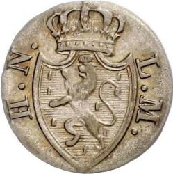 Монета > 1крейцер, 1817-1828 - Нассау  - obverse