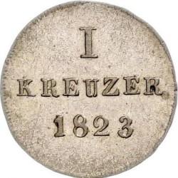 Монета > 1крейцер, 1817-1828 - Нассау  - reverse