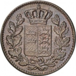 Кованица > ½крајцера, 1858-1864 - Virtemberg  - obverse