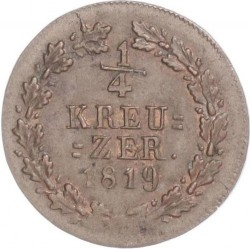Монета > ¼крейцера, 1817-1822 - Нассау  - reverse