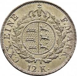 Кованица > 12крајцера, 1824 - Virtemberg  - reverse