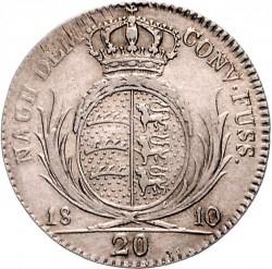 Кованица > 20крајцера, 1810-1812 - Virtemberg  - reverse