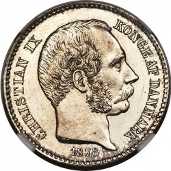 Monēta > 10 centu, 1878-1879 - Danish West Indies  - obverse