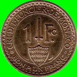 Кованица > 1франак, 1926 - Монако  - reverse