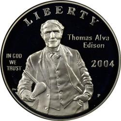 Монета > 1доллар, 2004 - США  (125 лет лампочке) - obverse
