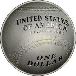 العملة > ١دولار, 2014 - الولايات المتحدة الأمريكية  (National Baseball Hall of Fame) - reverse