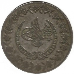 Кованица > 100пара, 1808 - Отоманско Царство  (Tugra within 3/4 chain wreath /without a point) - reverse