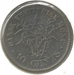 Monēta > 10centu, 1859-1862 - Danish West Indies  - reverse